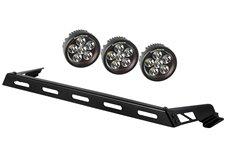 """3,5"""" okrągłe lampy LED z mocowaniem - zestaw 3 sztuk, 07-16 Jeep Wrangler (JK)"""