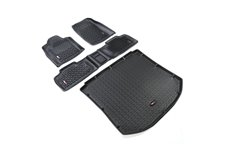 All Terrain Floor Liner Set, Black : 11-18 Jeep Grand Cherokee WK