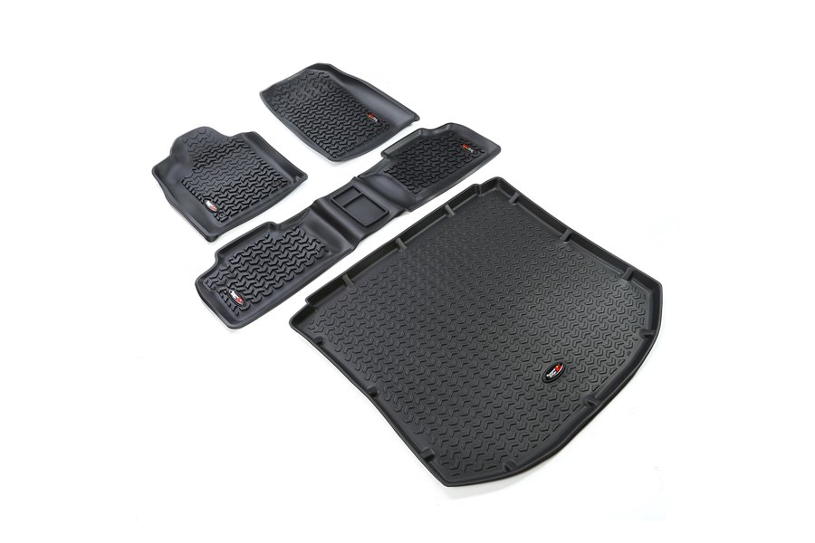 Floor Liners, Kit, Black : 11-17 Jeep Grand Cherokee WK