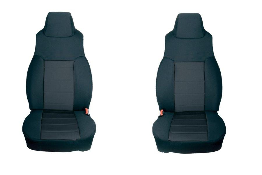 Neoprene Front Seat Covers, Black : 03-06 Jeep Wrangler TJ
