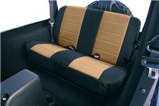 Neoprenowe pokrowce na tylne siedzenia, beżowo czarne : 97-02 Jeep Wrangler TJ