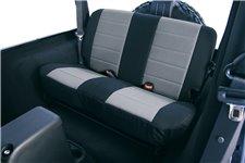 Neoprenowe pokrowce na tylne siedzenia, szaro czarne : 97-02 Jeep Wrangler TJ