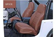 Przednie siedzenie z wysokim oparciem, bez regulacji, Spice : 76-02 Jeep CJ/Wrangler YJ/TJ
