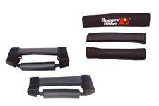 Zestaw osłon neoprenowych i uchwytów do orurowania, czarne : 97-06 Jeep Wrangler TJ/LJ