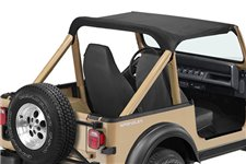 Summer Brief Top, Black Denim : 87-91 Jeep Wrangler YJ