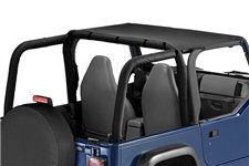 Pocket Brief Top, Black Denim : 97-06 Jeep Wrangler TJ