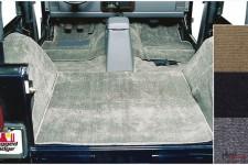 Zestaw wykładzin wnętrza, szary : 76-95 Jeep CJ/Wrangler YJ