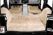 Zestaw wykładzin wnętrza, miodowy : 76-95 Jeep CJ/Wrangler YJ