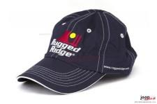 Czapka z daszkiem, logo Rugged Ridge, granatowa z białym ściegiem, RuggedRidge.com