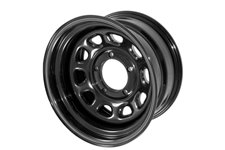 D Window Wheel, 15x10, Black, 5x4.5