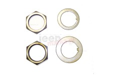 Spindle Nut/Washer Kit : 41-45 Willys MB