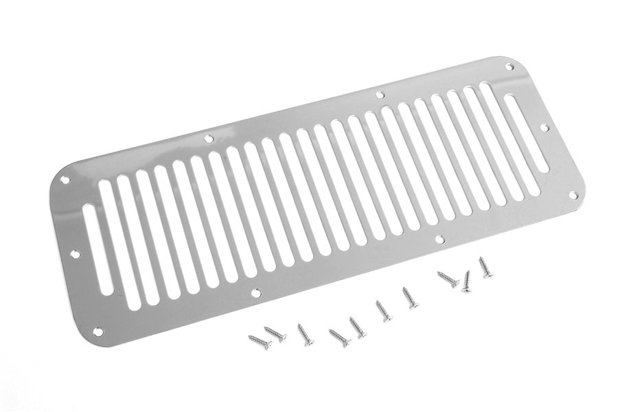 Cowl Vent Cover, Stainless Steel : 76-95 Jeep CJ/Wrangler YJ
