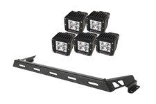 """3"""" kwadratowe lampy LED z mocowaniem – zestaw 5 sztuk : 07-17 Jeep Wrangler"""