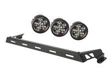 """3,5"""" okrągłe lampy LED z mocowaniem – zestaw 3 sztuki : 07-17 Jeep Wrangler"""