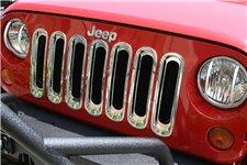 Wkładki grilla, chromowane : 07-17 Jeep Wrangler