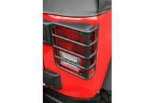 Osłony lamp tylnych Euro Guards, Czarne : 07-17 Jeep Wrangler JK