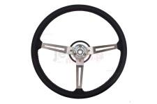 Steering Wheel, Leather : 76-95 Jeep CJ/Wrangler