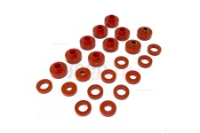 Body Mount Kit, Red, 22 Pieces : 76-79 Jeep CJ Models