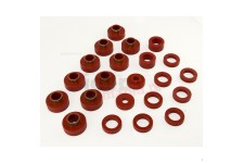 Body Mount Kit, Red, 22 Pieces : 80-86 Jeep CJ7
