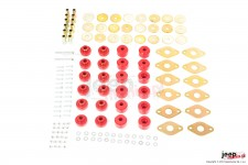 Body Mount Kit, Poly, 12 bushing : 07-17 JKU