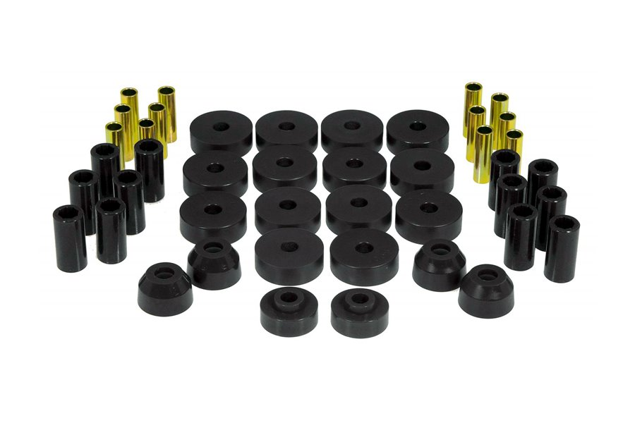 Total Bushing Kit, Black : 55-75 Jeep CJ5/CJ7