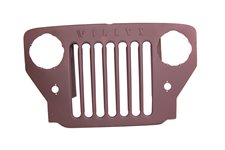 Grille, Willys Script : 53-64 Willys CJ3B