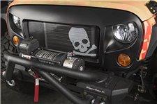Grill Spartan z siadką czaszka : 07-18 Jeep Wrangler JK/JKU