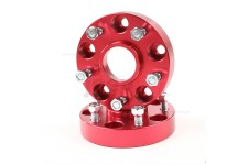 Wheel Spacers, 1.25 Inch, Red, 5x5 : 99-04 Jeep Grand Cherokee
