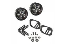 Lampy LED z uchwytami, przciwmgielne, okrągłe, 07-15 Jeep Wrangler JK