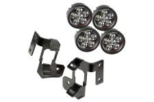 Lampy LED z mocowaniami na słupek, okrągłe, 07-15 Wrangler JK
