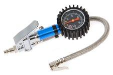 Pistolet do pompowania kół z manometrem : analogowy, zakres 0 do 7 bar