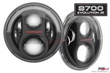 Lampy Przednie LED, model Evolution 8700 J2 : EU, RHT, czarne, para