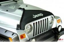 Materiałowa osłona maski, trójkątna, czarna : 97-06 Jeep® Wrangler TJ & Unlimited