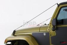 Zestaw linek zabezpieczających szybę i maskę : 97-17 Jeep Wrangler TJ/JK