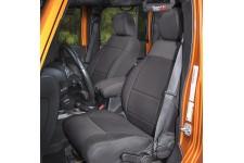 Neoprenowe pokrowce na przednie fotele, Czarne : 11-17 Jeep Wrangler