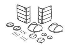 10 elementowy zestaw osłon Euro Guard, Czarny, 07-16 Jeep Wrangler JK