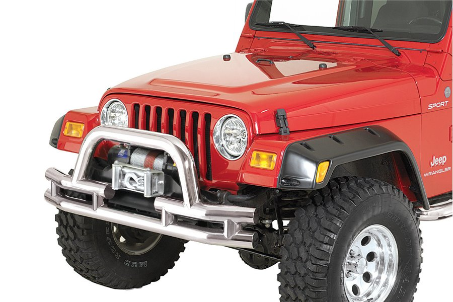 Tube Front Winch Bumper, 3 Inch, Stainless Steel : 76-06 Jeep Models