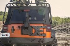 Uchwyt i mocowanie koła zapasowego SPARTACUS HD - zestaw : 07-17 Jeep Wrangler JK