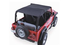 Acoustic Island Topper Soft Top, Black Denim : 97-06 Jeep Wrangler TJ