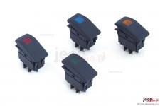 Zestaw 4 przełączników Rocker, kable w komplecie : czerwony, pomarańczowy, niebieski, zielony