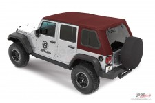 Dach miękki, Trektop™ Pro Hybrid, Mielona Czerwona Papryka (Crushed Red Pepper) : 07-18 Jeep Wrangler Unlimited JK 4 drzwiowy