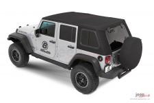 Dach miękki, Trektop™ Pro Hybrid, Czarny Twill (Black Twill) : 07-18 Jeep Wrangler Unlimited JK 4 drzwiowy