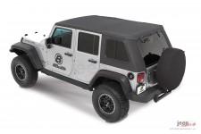 Dach miękki, Trektop™ Pro Hybrid, Granitowo Szary (Granite Gray) : 07-18 Jeep Wrangler Unlimited JK 4 drzwiowy