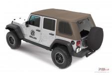 Dach miękki, Trektop™ Pro Hybrid, Piaskowo Beżowy (Pebble Beige) : 07-18 Jeep Wrangler Unlimited JK 4 drzwiowy