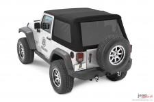 Dach miękki, Trektop™ NX Glide™, Czarny Diament (Black Diamond) : 07-18 Jeep Wrangler JK 2 drzwiowy