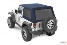 Dach miękki, Trektop™ NX Glide™ Twill, Ciemnoniebieski (Navy Blue) : 07-18 Jeep Wrangler JK 2 drzwiowy