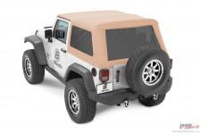 Dach miękki, Trektop™ NX Glide™ Twill, Jasnobrązowy Dębowy (Oak Tan) : 07-18 Jeep Wrangler JK 2 drzwiowy