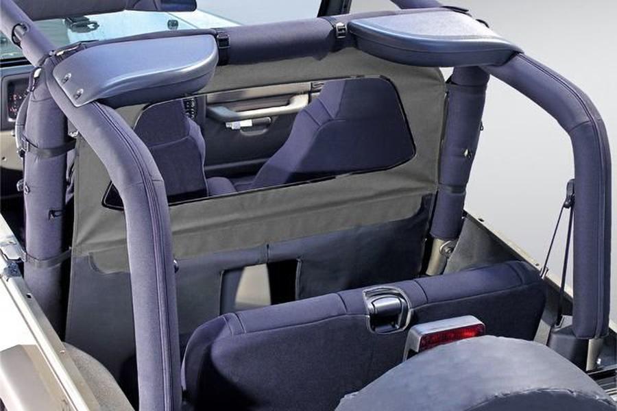 Przegroda kabiny, osłona od wiatru, szara : 80-06 Jeep CJ/Wrangler YJ/TJ