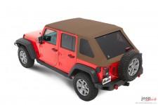 Dach miękki, Trektop™ NX Plus™ Twill, Jasnobrązowy Dębowy (Oak Tan) : 07-18 Jeep Wrangler Unlimited JK 4 drzwiowy