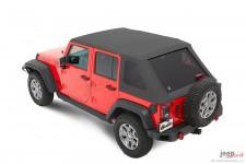 Dach miękki, Trektop™ NX Plus™ Twill, Granitowo Szary (Granite Gray) : 07-18 Jeep Wrangler Unlimited JK 4 drzwiowy